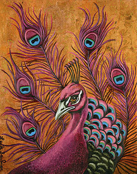 Leah Saulnier The Painting Maniac - Pink Peacock