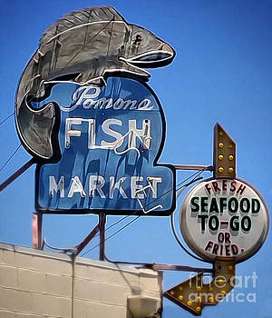 Gregory Dyer - Pomona Fish Market Vintage Sign