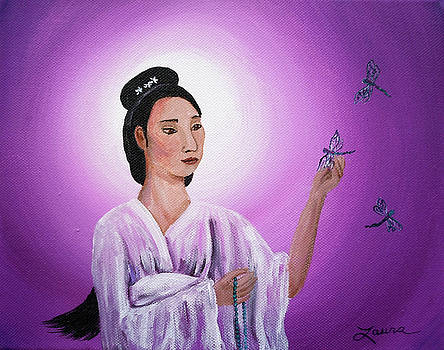 Laura Iverson - Quan Yin with Three Dragonflies