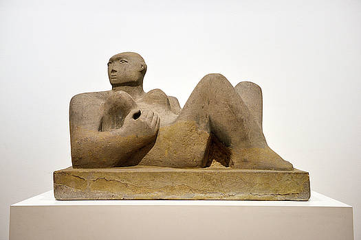Reimar Gaertner - Reclining Woman carved out of Green Horton stone by Henry Moore