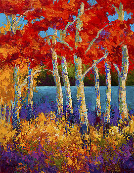 Marion Rose - Red Birches