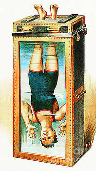 Wingsdomain Art and Photography - Remastered Nostagic Vintage Poster Art Houdini Water Filled Torture Cell 20170415 notext