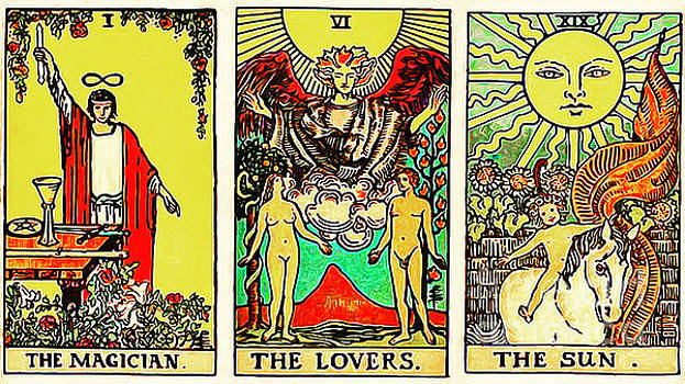 Wingsdomain Art and Photography - Remastered The Three Tarot The Magician The Lovers and The Sun 20170423