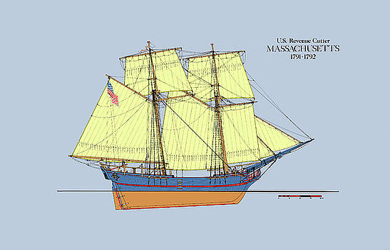 Jerry McElroy - Revenue Cutter Massachusetts In Color