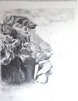 Harry Robertson - Rocky outcrop in Snowdonia.