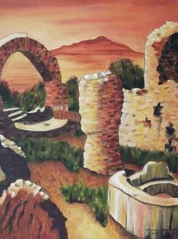 Suzanne  Marie Leclair - Ruins in Cumae Italy
