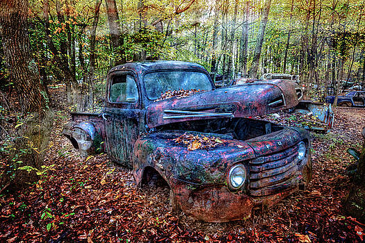 Debra and Dave Vanderlaan - Rusty Blue Vintage Ford  Truck