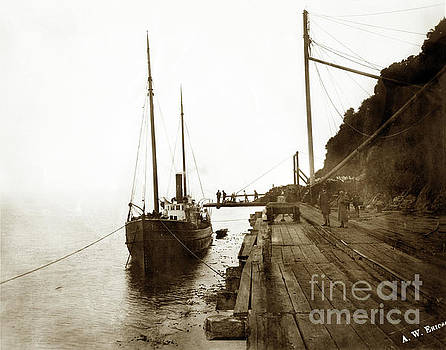 California Views Mr Pat Hathaway Archives - S. S. Emily at Trinidad wharf built in 1887 by Whit of San Franc