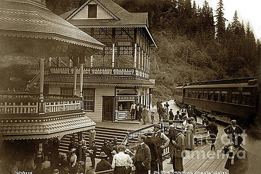 California Views Mr Pat Hathaway Archives - Sampling Shasta Water with Some Passengers that disembark the train