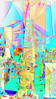 Wingsdomain Art and Photography - San Francisco Transamerica Tower in Abstract Cubism 20170326