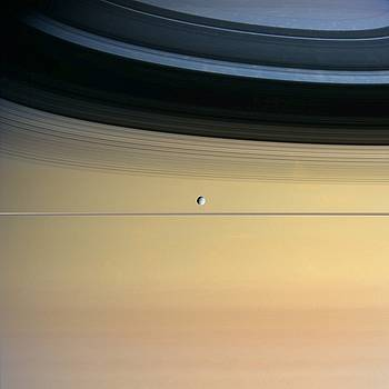 NASA/Science Source - Saturn And Its Moon Dione