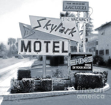 Gregory Dyer - Skylark Motel Vintage Sign in Black and White