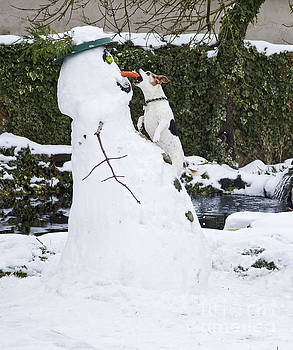 Brian Bevan - Snowman And Terrier