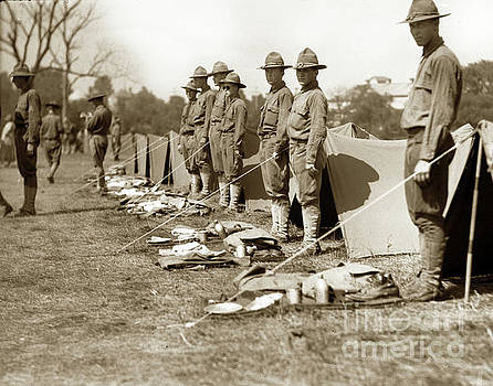 California Views Mr Pat Hathaway Archives - Soldiers Lined Up For Inspection in France circa 1918