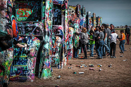 Randall Nyhof - Spray Paint Fun at Cadillac Ranch