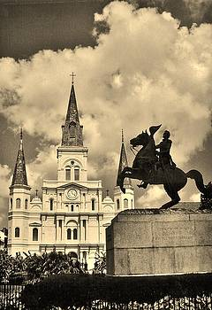 John Malone - St. Louis Cathedral and Statue