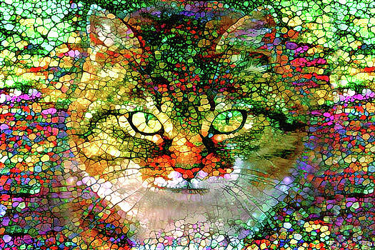 Peggy Collins - Stained Glass Cat