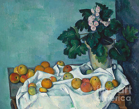 Claude Monet - Still Life with Apples and a Pot of Primroses, 1890