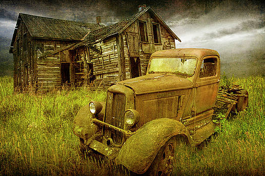 Randall Nyhof - Stories to be Told with Abandoned Dodge Truck and Farm House