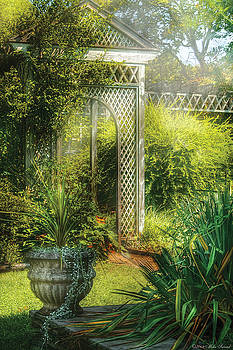 Mike Savad - Summer - Landscape - By the entrance of the Garden