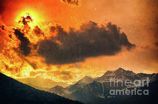 Silvia Ganora - Sunset over the Alps