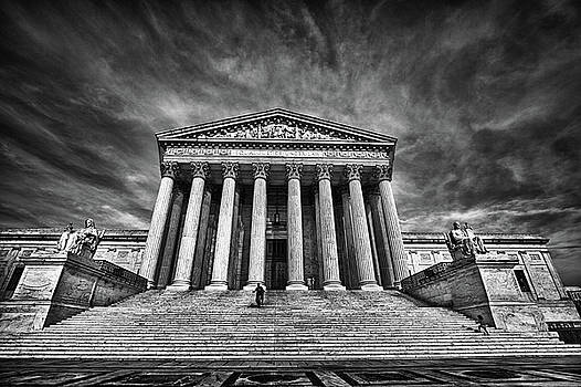 Val Black Russian Tourchin - Supreme Court Building in Black and White