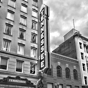 Sharon Popek - Tennessee Theatre Marquee Black and White