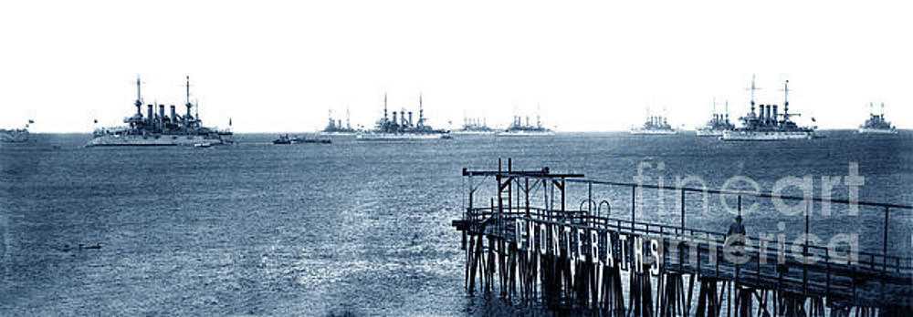 California Views Mr Pat Hathaway Archives - The Atlantic Fleet anchored off the Del Monte Bath House pier in