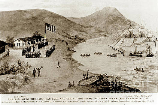 California Views Mr Pat Hathaway Archives - The raising of the American flag and taking possession of Yerba