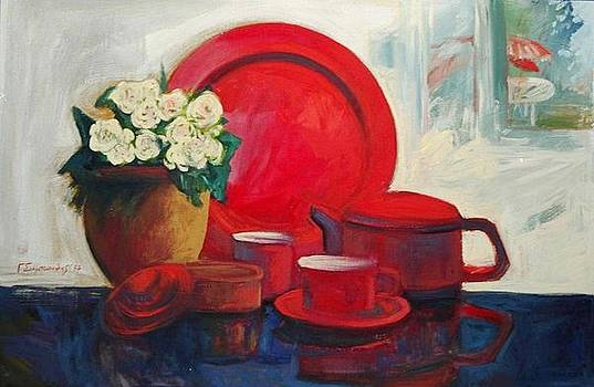 George Siaba - The red still life