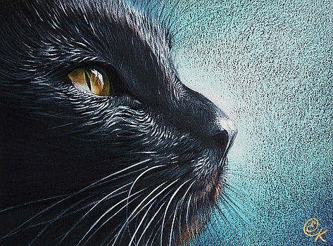 Elena Kolotusha - Thoughtful Cat