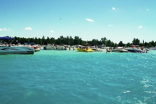 Michelle Calkins - Turquoise Waters at the Torch Lake Sandbar