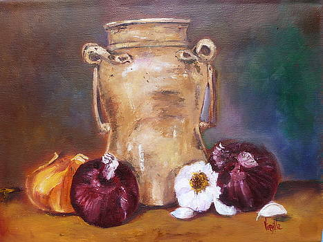 Virgilla Lammons - Tuscan Elements - Italian Jar with Onions
