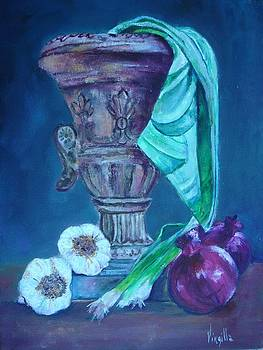 Virgilla Lammons - Tuscan Elements - Tuscan Urn with Onions and Garlic