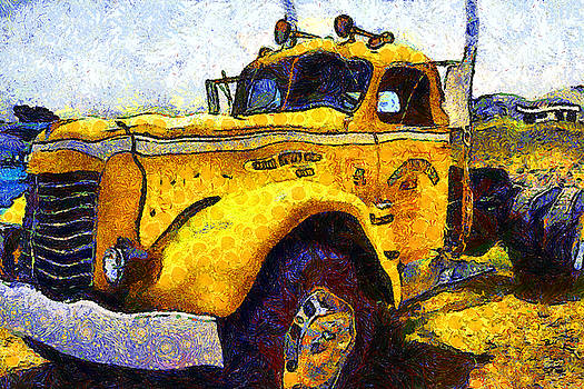 Wingsdomain Art and Photography - Van Gogh Hauls Across America In A Semi-Trailer Truck . 7D15483