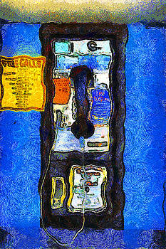 Wingsdomain Art and Photography - Van Gogh.s Pay Phone . 7D15934