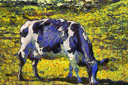 Wingsdomain Art and Photography - Van Gogh.s Starry Blue Cow . 7D16140
