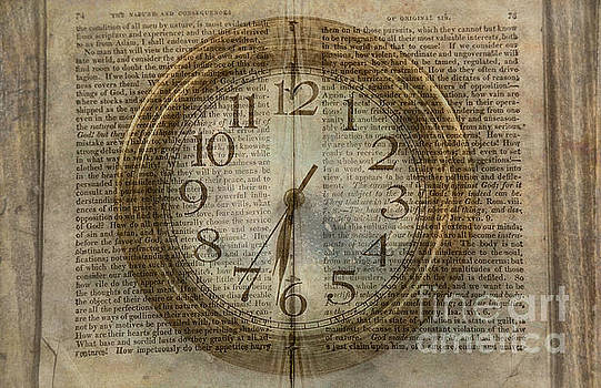 Randy Steele - Wall Clock and Book Double Exposure
