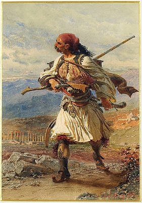 Greek Warrior Print by Carl Haag