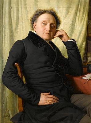 Portrait of Dr. Med. Franz Xavier von Soist Print by Franz Ittenbach