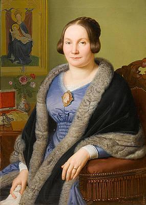 Portrait of Margarete von Soist Print by Franz Ittenbach