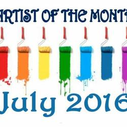 Artist of the month - JULY 2016 Art Competition