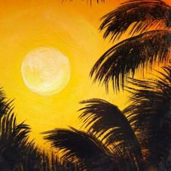 Tropical Sunset Paintings Contest Art Competition
