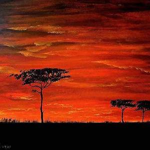 Colorful Sundown  Painting Only Art Competition