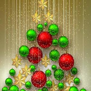 Red Gold and Green Christmas Art Competition