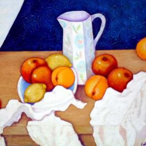 Still life painted by women painters Art Competition