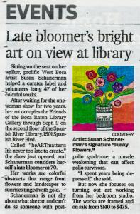 Late Bloomers Art On Exhibit