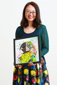 Mixed Media Artist Unleashes Her Inner Picasso