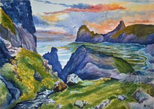 Ashley Jennings Artist Releases First Cornish Painting