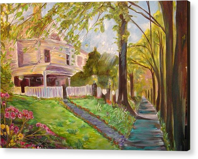 Landscape Acrylic Print featuring the painting Argonne by Impressionist FineArtist Tucker Demps Collection